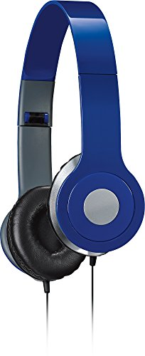 iLive iAH54BU Over-the-Ear DJ Headphones, Blue