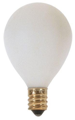 Candelabra Base Satin White Globe (Satco S3863 120V Pear Candelabra Base 25-Watt G12.5 Light Bulb, Satin)