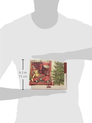 Artwork by Susan Winget 5.375 x 6.875 LANG -Bear in Chair 18 Cards 19 envelopes Boxed Christmas Cards