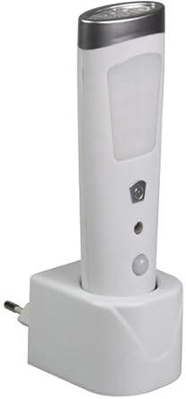 Ranex 6000.429 - Punto de luz/linterna LED con detector de movimiento recargable, plástico, color blanco: Amazon.es: Iluminación