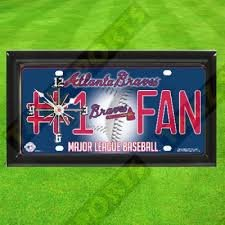 BRAVES WALL CLOCK - BY TAGZ SPORTS