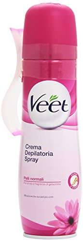 Veet Crema Depilatoria en Spray Piel Sensible - 150 ml: Amazon.es: Belleza
