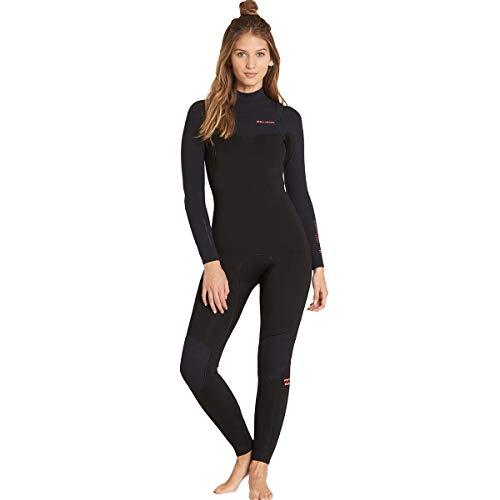 Billabong Women s 4 3 Furnace Carbon Chest Zip Fullsuit Black 8 795f9b474