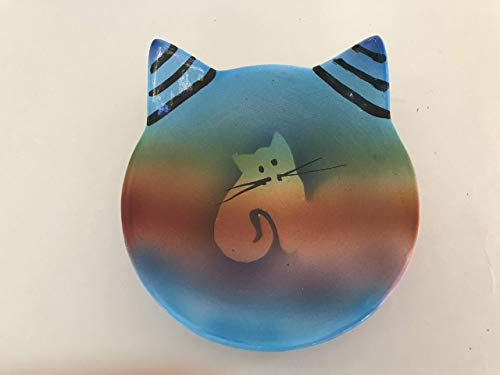 Handmade Kitty Cat Pottery Spoon Rest/Ring -