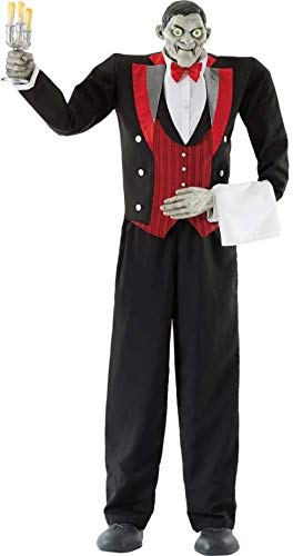 Online Discounts Life Size Halloween Decoration Butler Animated Prop Haunted House Scary Garage ()