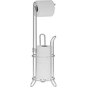 SImpleHouseware Bathroom Toilet Tissue Paper Roll Storage Holder Stand, Chrome Finish