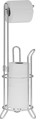 Simple Houseware Bathroom Toilet Tissue Paper Roll Storage Holder Stand, Chrome -