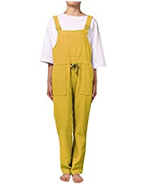 SCOFEEL Women's Baggy Overalls Jumpsuits Rompers Wide Leg Bib Pants with Pockets
