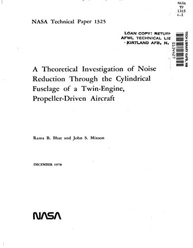 A theoretical investigation of noise reduction through the cylindrical fuselage of a twin-engine, propeller-driven aircraft ()