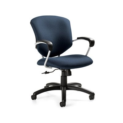 Supra Mid-Back Pneumatic Tilter Office Chair with Arms Arms: Not Included, Finish: Black