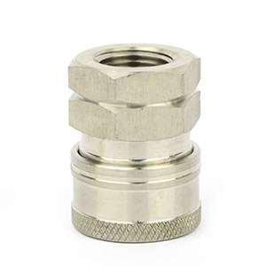 Interstate Pneumatics PW7144 Pressure Washer 3/8 inch FNPT Stainless Steel Coupler 5200 PSI by Interstate Pneumatics