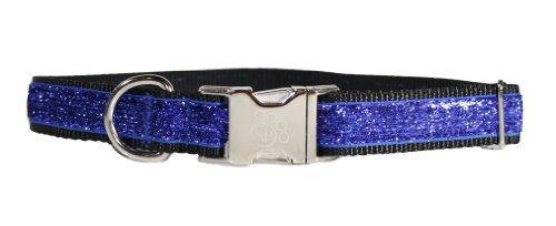 Sophisticated Pup Celebri-Pup Glitter Dog Collar, Medium, Royal Blue