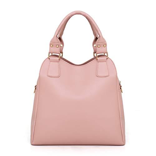 Composite Bags Leather 3 Handbag cm Totes Shoulder W33H31D13 Pink Black Ovqxd
