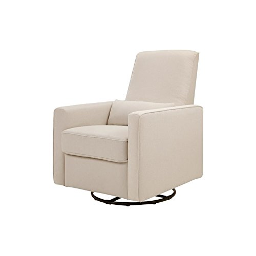 DaVinci Piper All-Purpose Upholstered Recliner with Cream Piping, Cream Finish