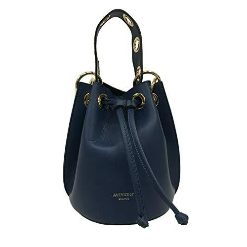 67 In Mod Made Italy Blu Pretty Secchiello 100 Tracolla Avenue A Pelle Borsa Con TqdHTwA