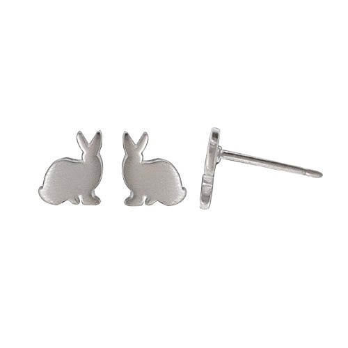 Boma Jewelry Sterling Silver Bunny Rabbit Stud Earrings -