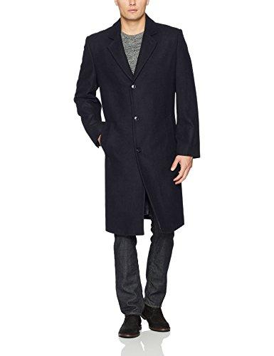 London Fog Men's Signature Wool-Blend Topcoat, Navy, 42L (Blend Coat Top)