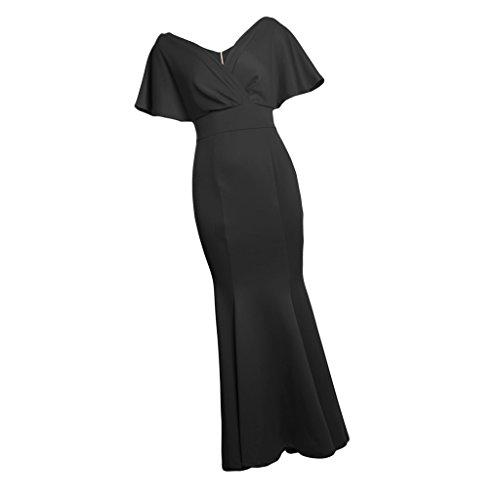 Club Fiesta Nocturna l Cena Noche Mujeres Novia negro Dama Honor de Maxi Baoblaze Ropa Vestido gxq6wTfz