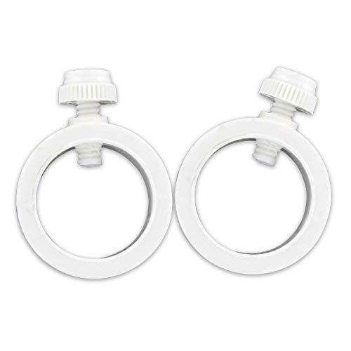 US Flag Store WFLAGRINGS White EZ Clip Flag Rings, 1 Pair,
