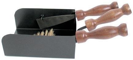 CRUCCOLINI Kit de Herramientas para Estufas de pellets con Pala rasqueta y Cepillo de latón