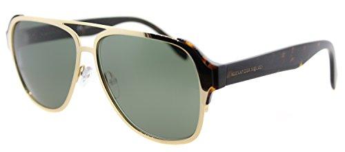 Sunglasses Alexander McQueen AM0012S AM 0012 S 12 GOLD / GREEN / - Aviators Alexander Mcqueen