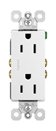 Legrand - Pass & Seymour radiant 885TRWCP7 Tamper-Resistant 15 Amp Duplex Outlet, 10-Pack, White ()