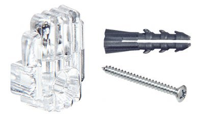 CRL 1/4'' Clear Mirror Clip, Screw and Anchor Set - Package