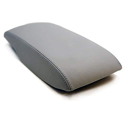 (DSparts Armrest Center Console Lid Leather Cover for 2007-2011 Toyota Camry Gray)