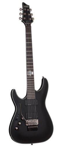 Schecter Blackjack Slim Line Series C-1 FR Left Handed 6-String Electric Guitar, Satin Black, with Active Pickups ()
