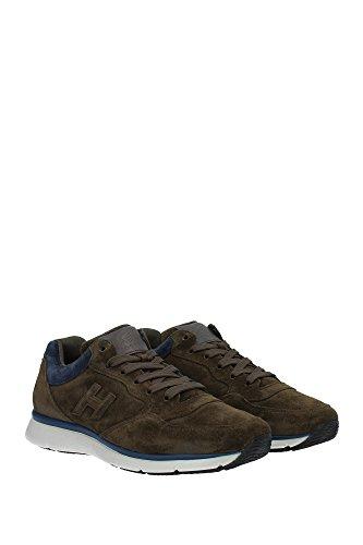 Sneakers Hogan Uomo Camoscio Marrone e Blu HXM2540S4109IX568S Marrone 40EU