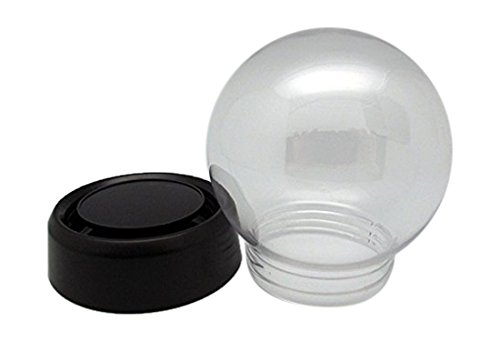 Snowdome.net DIY Snowdome kit Screw type 3.3inch Black PET/Plastic (with English instruction manual)