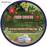 Set Of 3 Camping Food Covers Pic-Nic Insulated Food Container Cover Bug Stopper