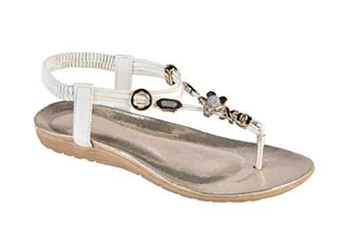 Sandales White Jewel Pour Gladrags Femme Uqdw4R4