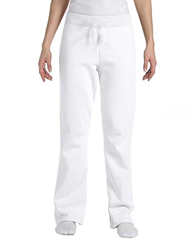Hanes Womens Petite Middle Rise Pant Length (Small, White) (Hanes Sweatpants White)