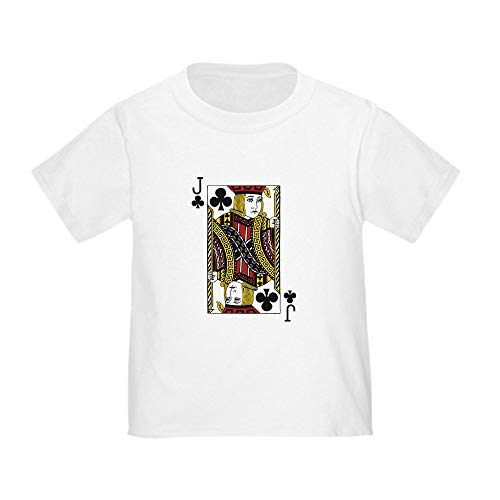 CafePress Jack of Clubs Toddler T Shirt Cute Toddler T-Shirt, 100% Cotton White