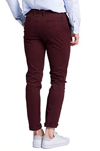 Bordeaux Pantalone 32 Slim Colore Fit Marco 36 Taglia T4wqUFO04