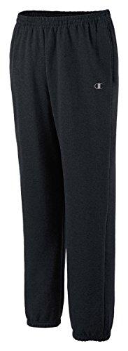 Champion Mens Eco Fleece Elastic-Hem Sweatpants P2519 -Black M P2519