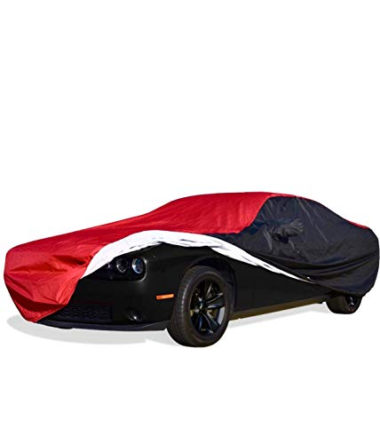 2008-2019 Dodge Challenger Ultraguard Plus Car Cover - Indoor/Outdoor Protection - Red/Black