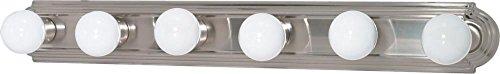 Nuvo Lighting 60/3303 Six Light Interior Home Package Three Light Vanity Strip, Brushed Nickel, 36-Inch ()