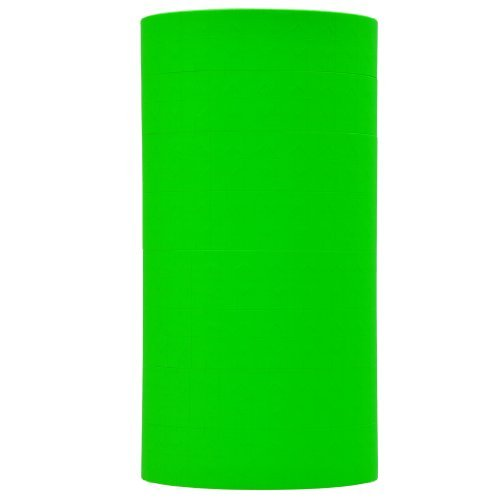 Fluorescent Green Pricing Labels to fit Monarch 1131 Pricers. 8 Rolls with 1 Free Ink Roller.