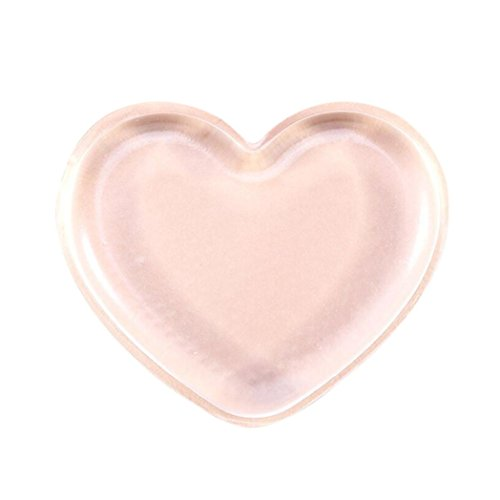 Molyveva Heart Shape Makeup Puff For Foundation BB Cream Essential Blender Silicone - Faces Shape Heart