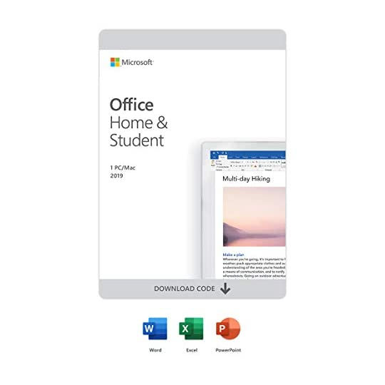 Microsoft Office Home & Student 2019 | One-time purchase, 1 device | PC/Mac Download