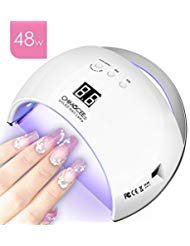 48W UV Led Nail Dryer, CHIMOCEE Smart Curing Lamp, Auto Sensor Nail Gel Polish Dryer With 4 Timer Setting, Professional For All Brand Type (White) by CHIMOCEE