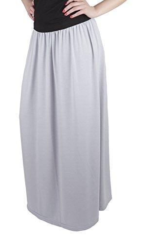 Mija C Jupe pour les femmes Long Maxi / beaucoup de couleurs 4001 Gris