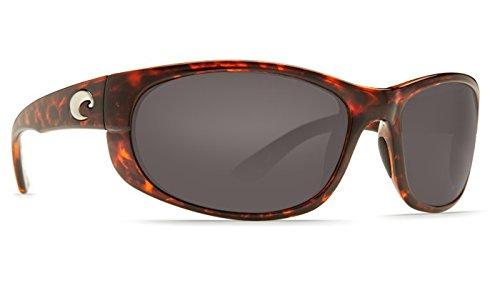 Costa Del Mar Howler Sunglasses, Tortoise, Gray 580P - 580p Howler Costa