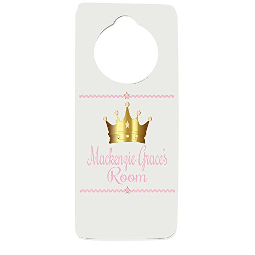 (Personalized Princess Crown Door Hanger)