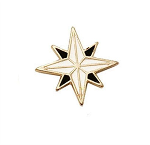 (Chusea Cute Design Personality Star Brooches Badge Button Badge(Black+White))