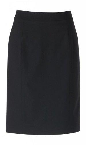 woolmaster Women's Stretch Wool Pencil Skirt 8 Black by woolmaster