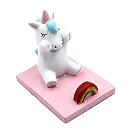 Amamcy Cute Unicorn Cell Mobile Phone Holder Stand, Smartphone Desk Holder for iPhone Xs/Max/XR/X/8/7 Plus/Google Pixel…