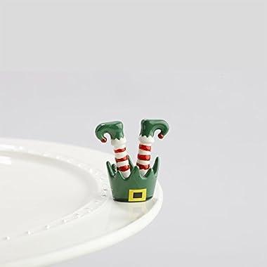 Nora Fleming Santa's Elf Mini - Jingle Toes - Hand-Painted Ceramic Charm - A143